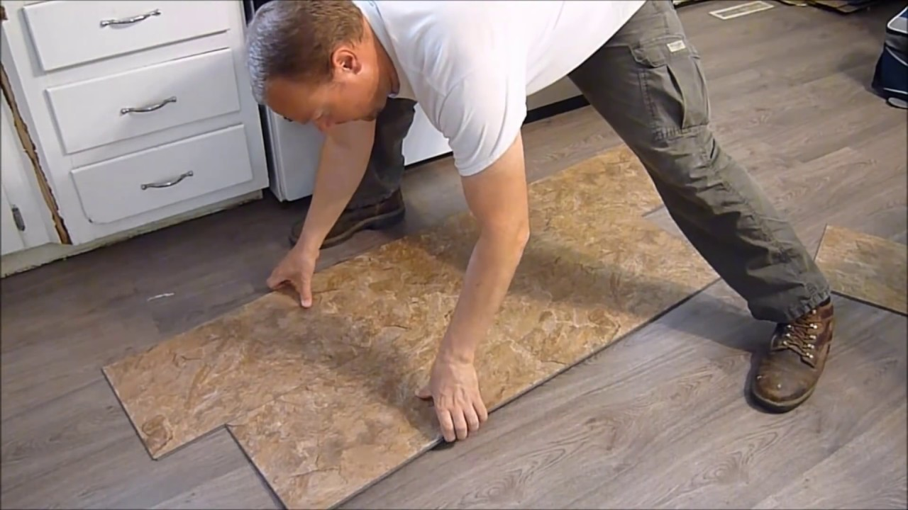 How to install vinyl plank flooring snap together youtube jameslax Images