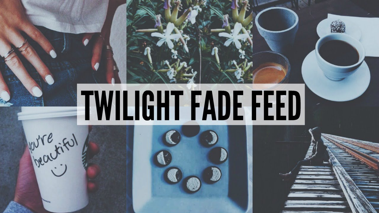 Feed Instagram: INSTAGRAM FEED: TWILIGHT FADE THEME