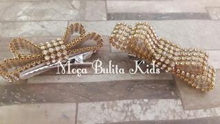 Laço Chanel no bico de pato por Janaína Gonçalves Moça Bulita Kids
