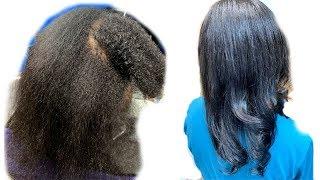 Comment Faire BRUSHING & LISSAGE Sur Cheveux Naturels Crépus - Je Lisse Mes Cheveux😅
