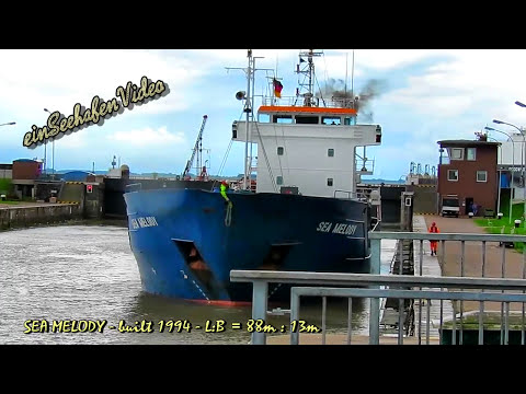 coaster SEA MELODY 8PAG7 IMO 9006382 Emden sealock cargo seaship merchant vessel KüMo