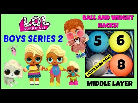 LOL Surprise Boys Series 2 Full Box Unboxing Middle Layer Rare Found!