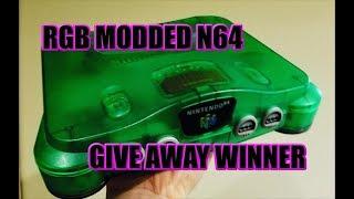 RGB N64 GIVEAWAY WINNER!