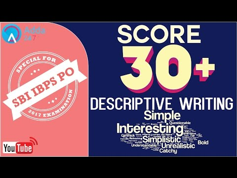 SBI PO 2017 |Score 30 + In  Descriptive Writing | English | Online Coaching for SBI IBPS Bank PO
