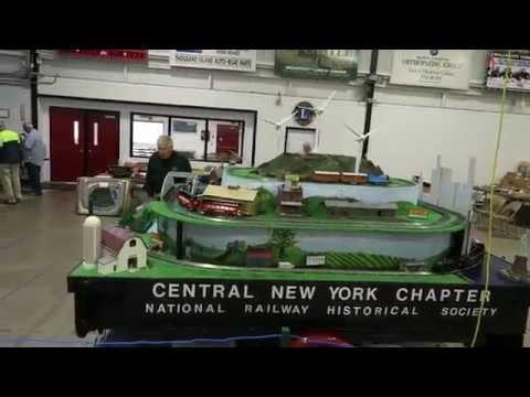 CNY NRHS Train Trailer Layout at Thousand Island Train Fair Clayton, N.Y. 9-12-15