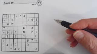 Sudoku Primer 90 - answer sheet to previous video (sudoku game, sudoku rules)
