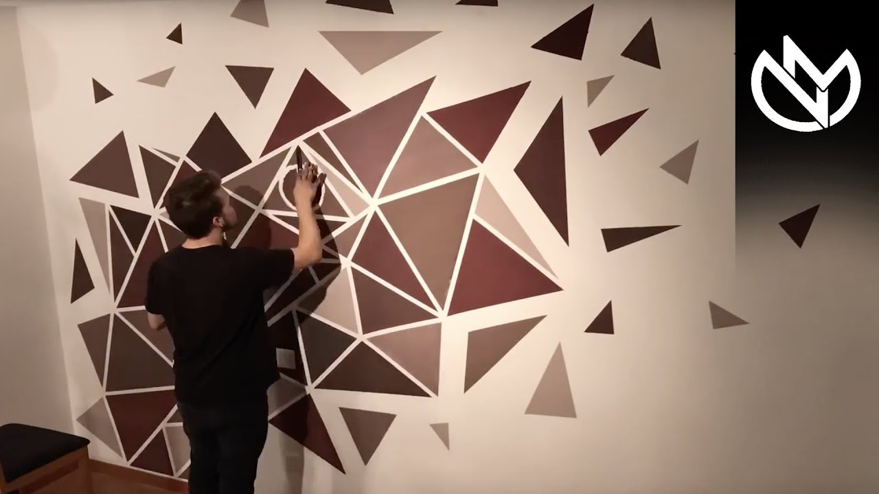 How To Paint A Perfect Geometric Wall Easy Painting