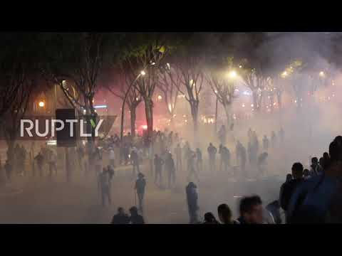 France: Olympique Marseille fans clash with police ahead of Lazio game