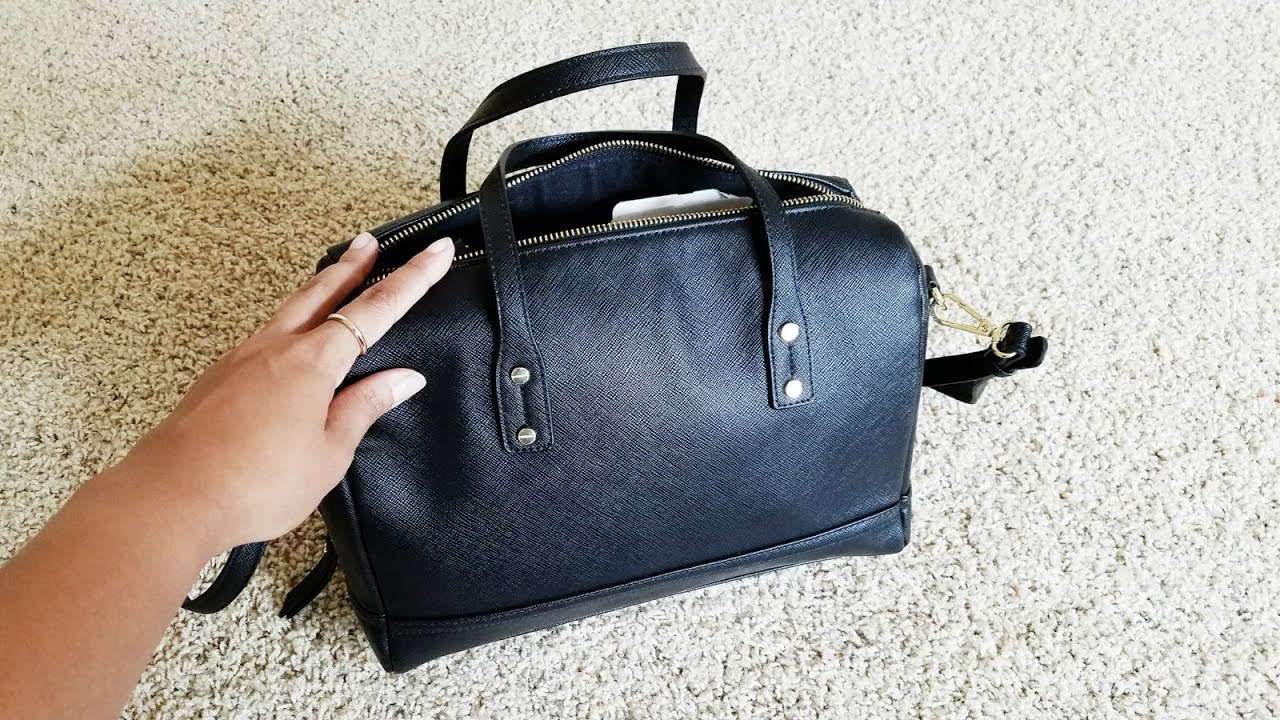 what s in my bag a new day black satchel from target youtube