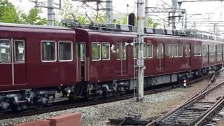 阪急3000系3052F 空転している車輪の様子 西宮北口9号線発車