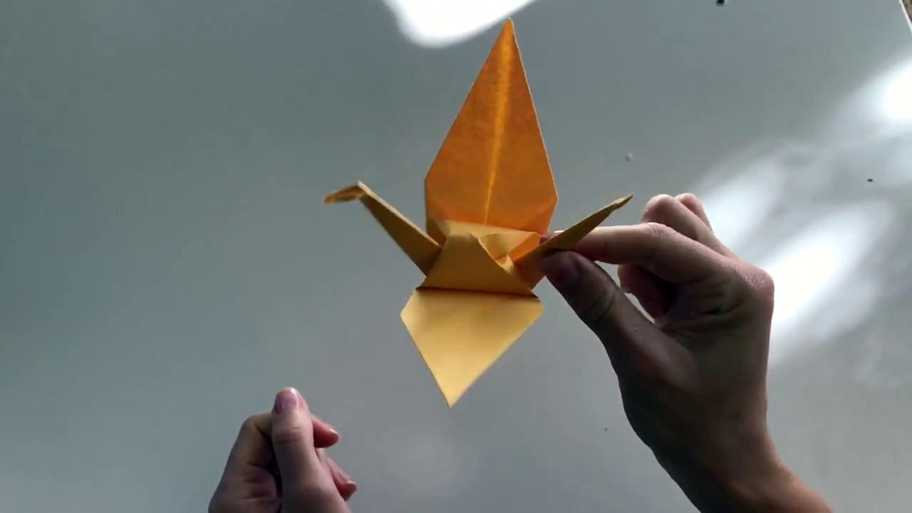 Tuto Comment Faire Une Grue Origami Youtube