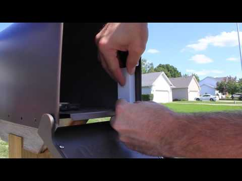 Smart Mailbox - Sensor install for notification of mail delivery.