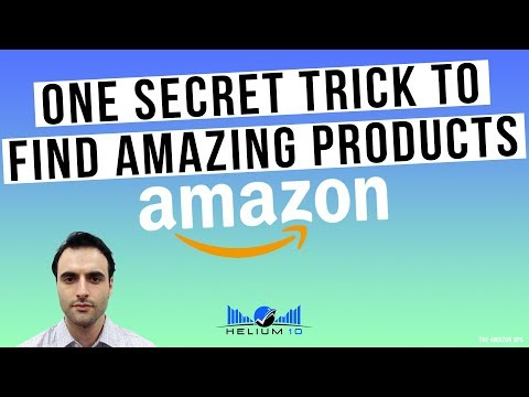 A Secret Trick To Find Amazing HIDDEN Gems On Amazon! Product Research Method