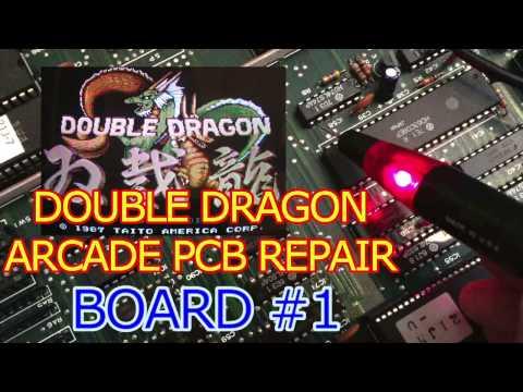 Double Dragon Arcade PCB repair - Board#1