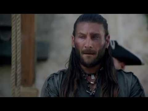 "Black Sails S03E09 -  Charles Vane's last words -  ""Get on with it mthrfckr"""