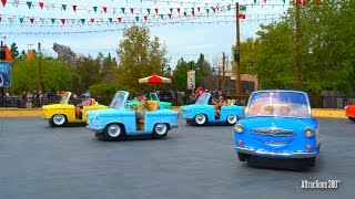 [4K] Luigi's Rollickin' Roadsters - Trackless Ride System - Luigi's Rollickin' Roadsters - Cars Land