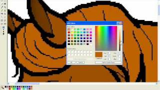 Drawing A Horse On MS Paint (tutorial)