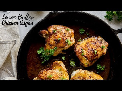 Lemon Butter Chicken | Keto Chicken Thigh Recipes