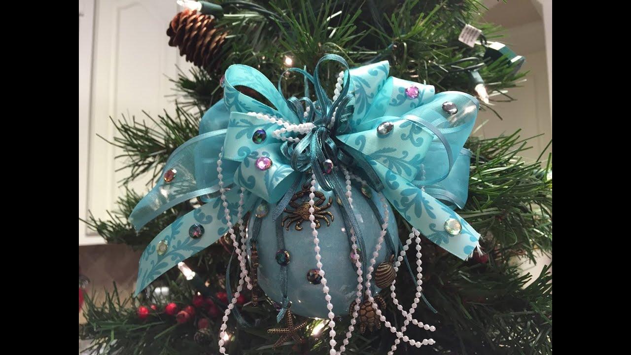 How to make a Ariel Christmas Ornament Ball Tutorial - YouTube