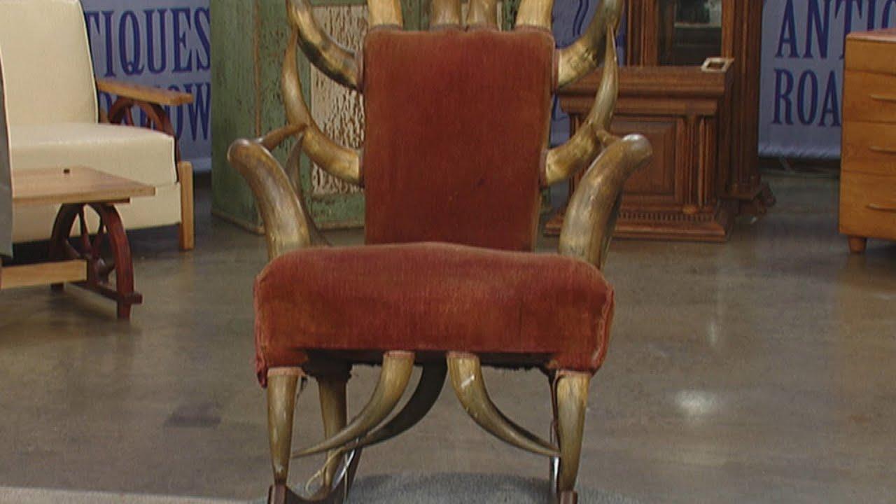 Marvelous Texas Longhorn Rocking Chair | Vintage St. Louis | Antiques Roadshow