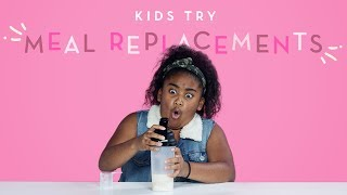 Kids Try Meal Replacements | Kids Try | HiHo Kids