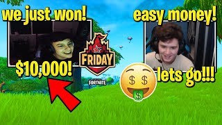 CLIX & BUGHA *DOMINATE* Fortnite Friday And Win $10,000!