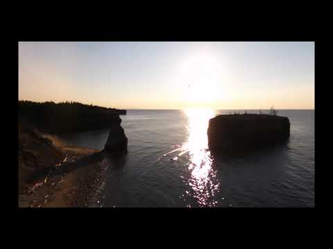 Stone Haven And PokeShaw Rock (Bird Island) Near Bathurst, New Brunswick