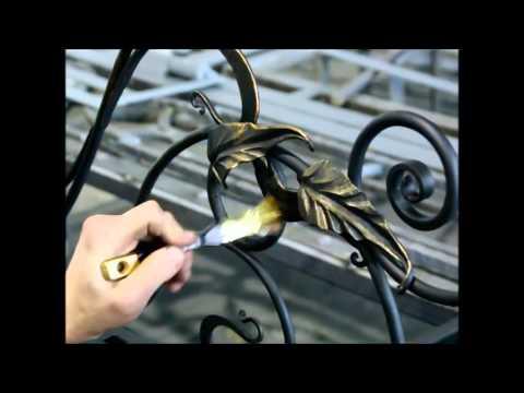 Патинирование ворот своими руками