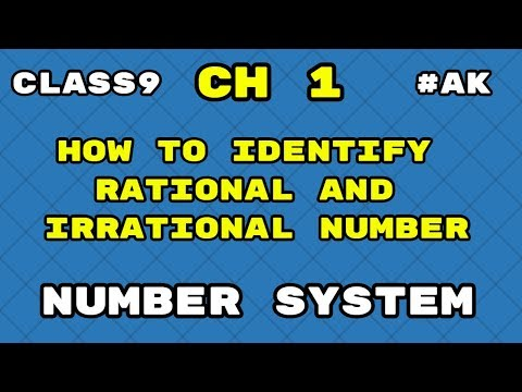 #3 How to identify Rational and irrational numbers class 9 maths By Akstud  1024