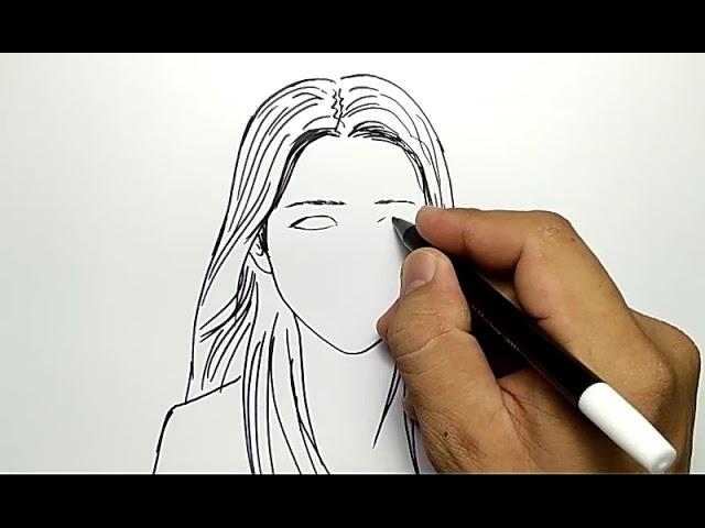 Cara Menggambar Wajah Orang Cewek Cantik Mudah Dan Cepat Youtube
