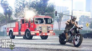 """STRAŻ POŻARNA VS MOTOCYKLIŚCI! w GTA 5 Online Hogaty i EKIPA """"LANY PONIEDZIAŁEK!"""" #348"""