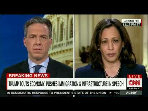 Senator Kamala Harris on CNN after the 2018 State of the Union