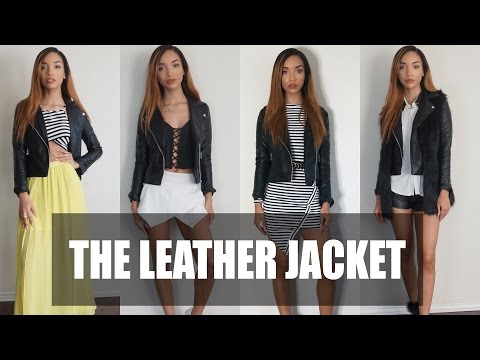 LOOKBOOK| How To Style a Leather Jacket (4 Ways)