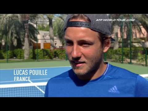 Training With Lucas Pouille In Dubai