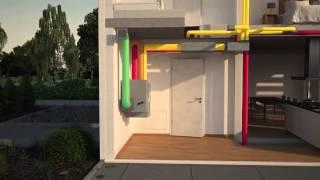 видео Вентиляция в деревянном доме: устройство естественной и принудительной системы