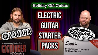 Electric Guitar Pack Unboxing: Squier vs. Yamaha | Our Holiday Gift Guide!