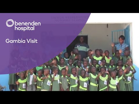 benenden hospital and benenden health thanked by Gambia children