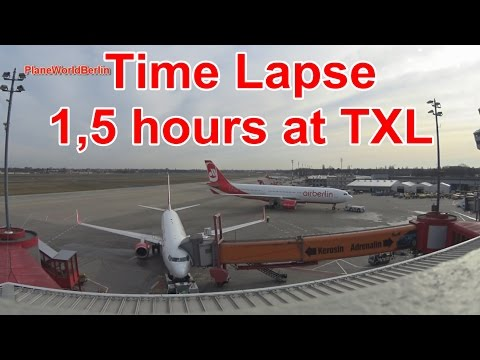 TIME LAPSE 2: 1,5 hours at Berlin Tegel Airport