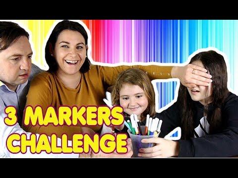 3 Marker challenge contro Mamma Papà | VLOG DAY 6 DI PASQUA by Marghe Giulia Kawaii