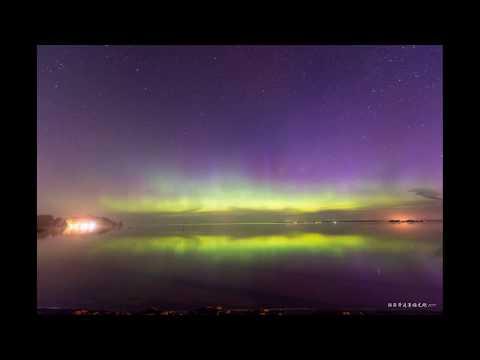 Aurora Borealis in Lake Simcoe (Toronto, Canada)
