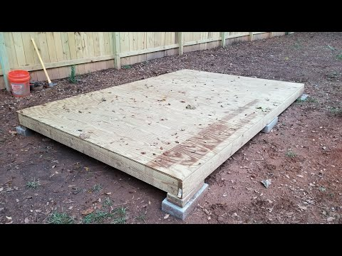Building a Shed on a Budget! (part 2 building the floor)