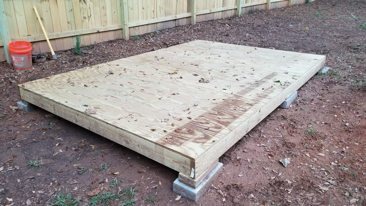 Building A Shed On A Budget Part 2 Building The Floor Youtube