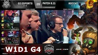 G2 eSports vs ROCCAT | Week 1 Day 1 S8 EU LCS Summer 2018 | G2 vs ROC W1D1