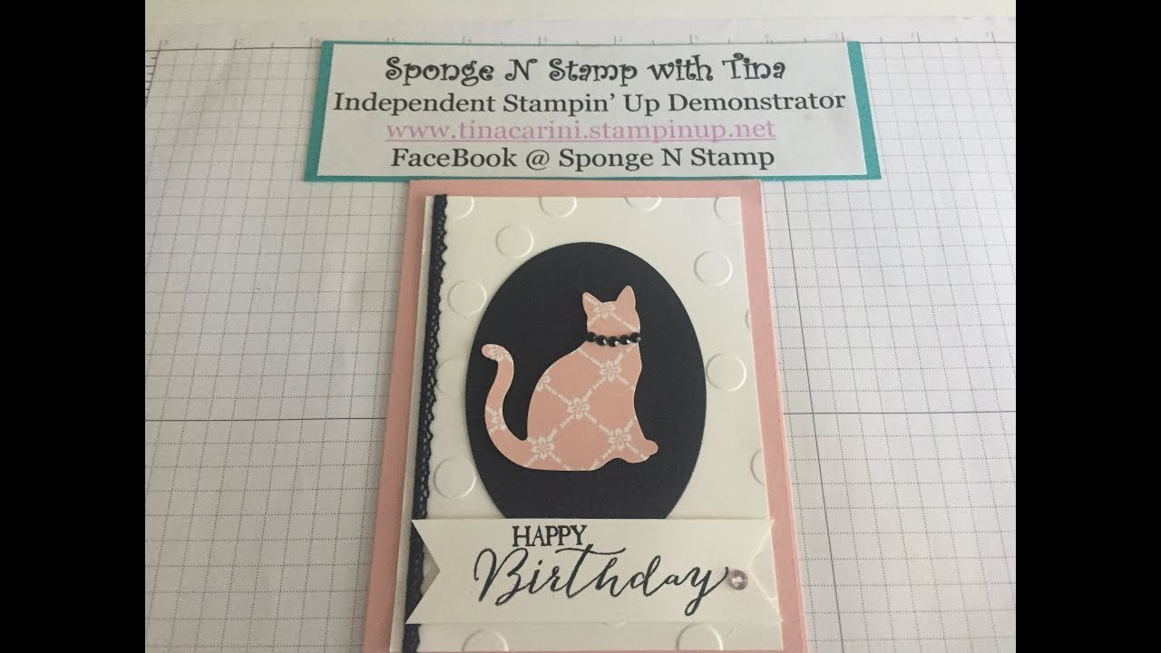 Kitty Cat Birthday Card Using The Stampin Up Punch