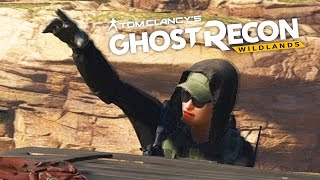 we re coming boys   ghost recon wildlands funtage base capture with tractor