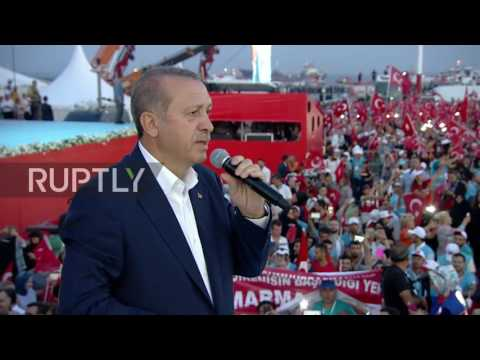 Turkey: Over one million people gather to decry coup in Istanbul