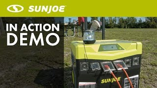 SJ1440SG - Sun Joe 1440 Watt Battery Powered Portable Indoor/Outdoor Inverter Generator - Live Demo