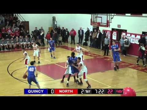 Quincy at North Quincy Boys Basketball (Feb 12, 2016)