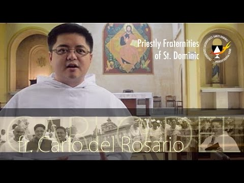 Fr. Carlo del Rosario of the Philippines for the Priestly Fraternities of St. Dominic