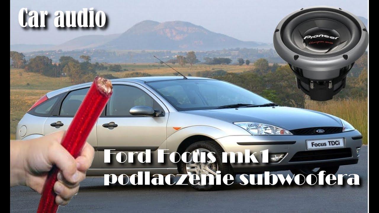 Rewelacyjny Ford Focus MK1- Gdzie przeciągnąć przewód car audio?1.8TDCI PB25